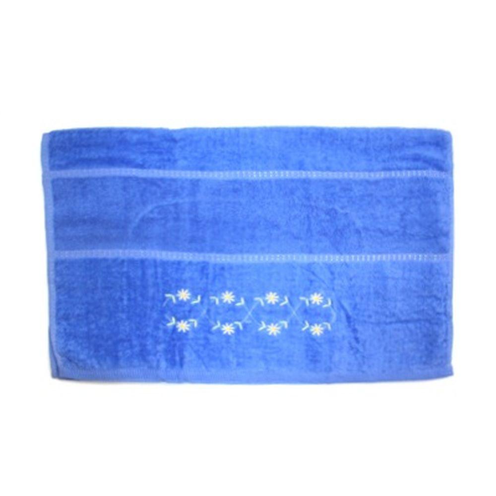 VETTA Полотенце банное, 100% хлопок Embroydery 50x90см синее арт FBS222-57