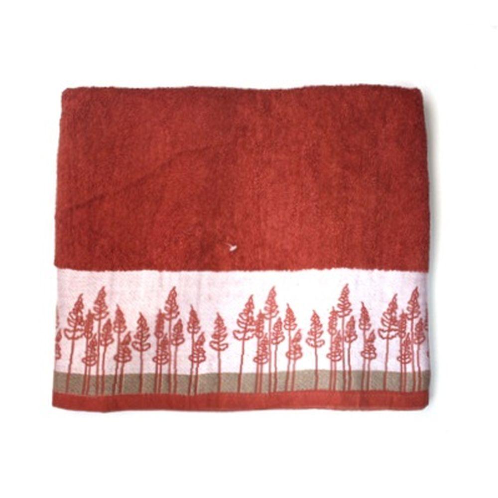 VETTA Полотенце банное, 100% хлопок Forest 48x90см красное арт FBS28-99