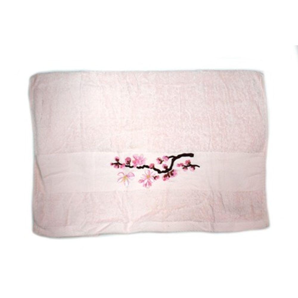 VETTA Полотенце банное, 100% хлопок, 50x100см, Sakura, розовое арт FBS222-37