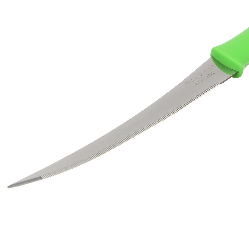 Нож для томатов 12.7см, зеленая ручка, Tramontina Athus, 23088/025