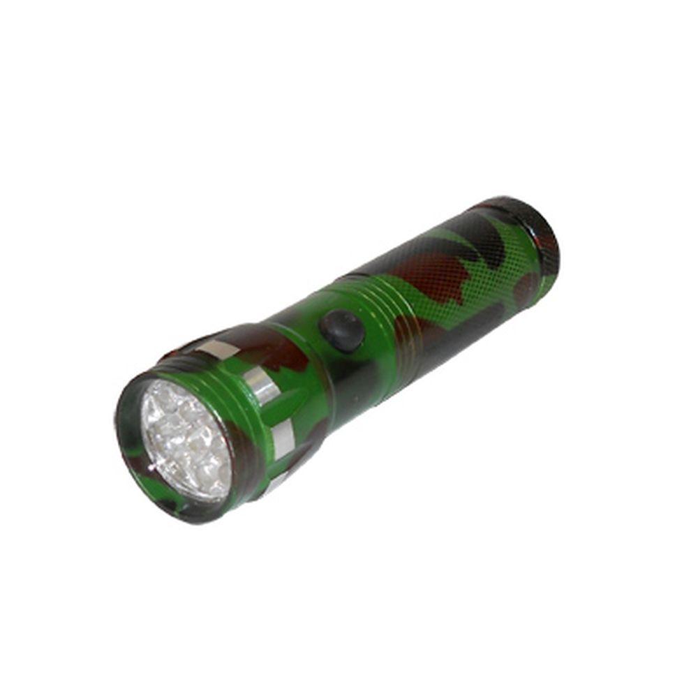 Фонарик металл со светодиодами, цинк.сплав, цвет камуфляж, 14 LED, 3хААА, арт.BL-F14M-14
