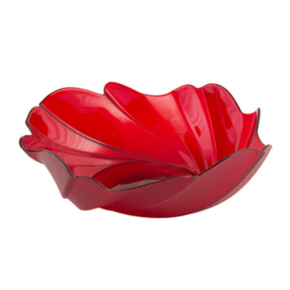 Фруктовница 0,4л Акри, красный полупрозрачный, 12712 Berossi