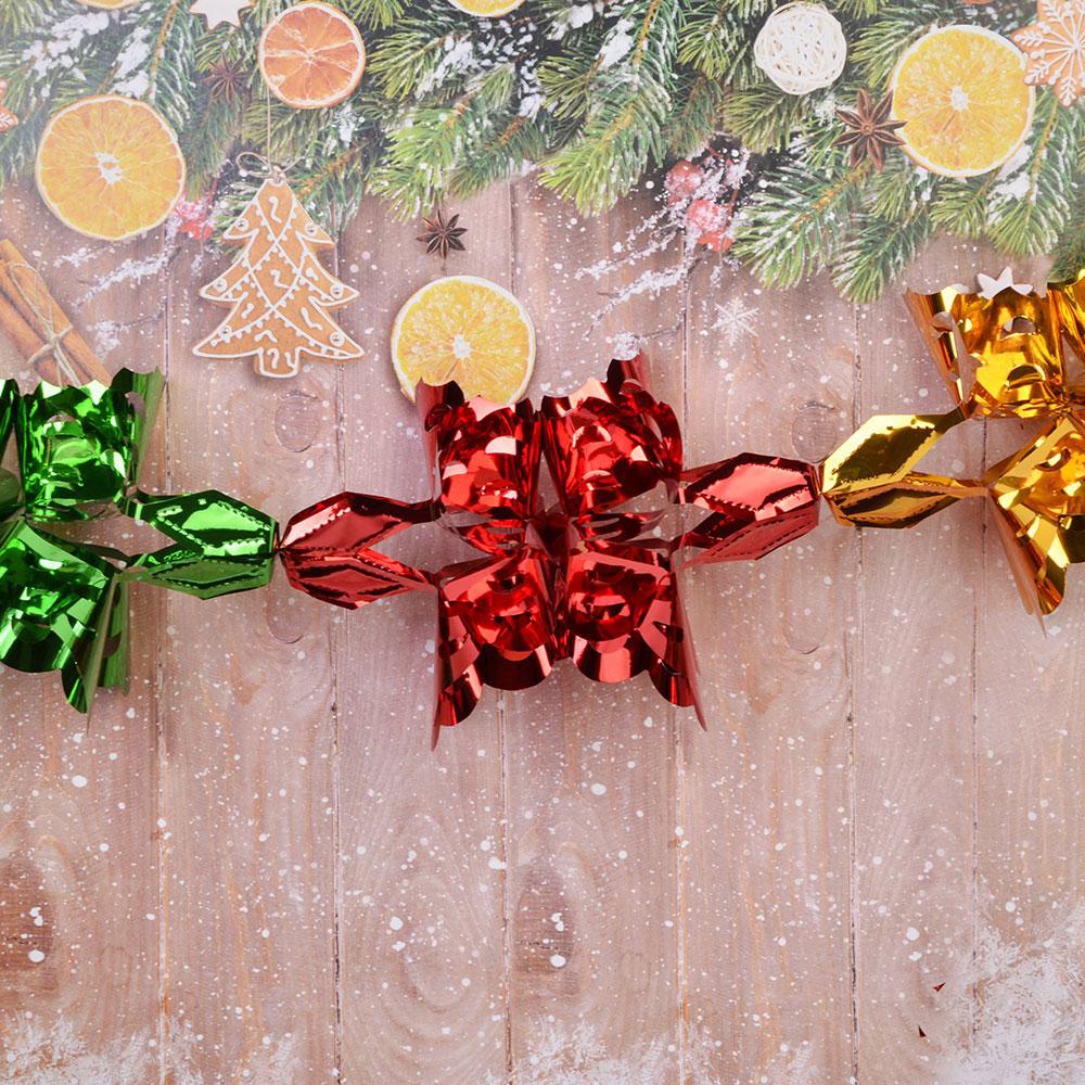 Гирлянда-растяжка СНОУ БУМ 18,5х18,5х200см, ПВХ, многоцвет, в виде Снежинки, MYH049
