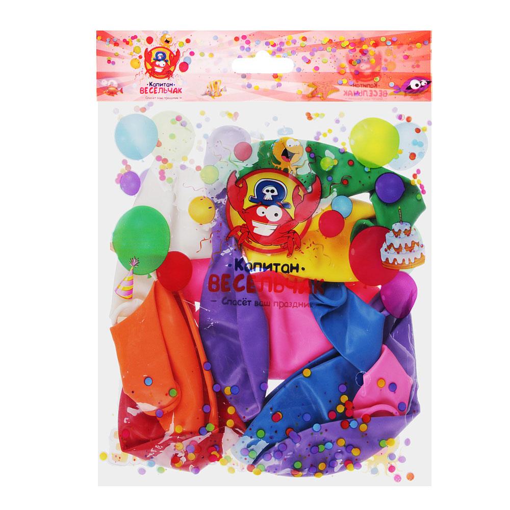 """Шары воздушные 10 шт, 12"""", цветные в пакете"""
