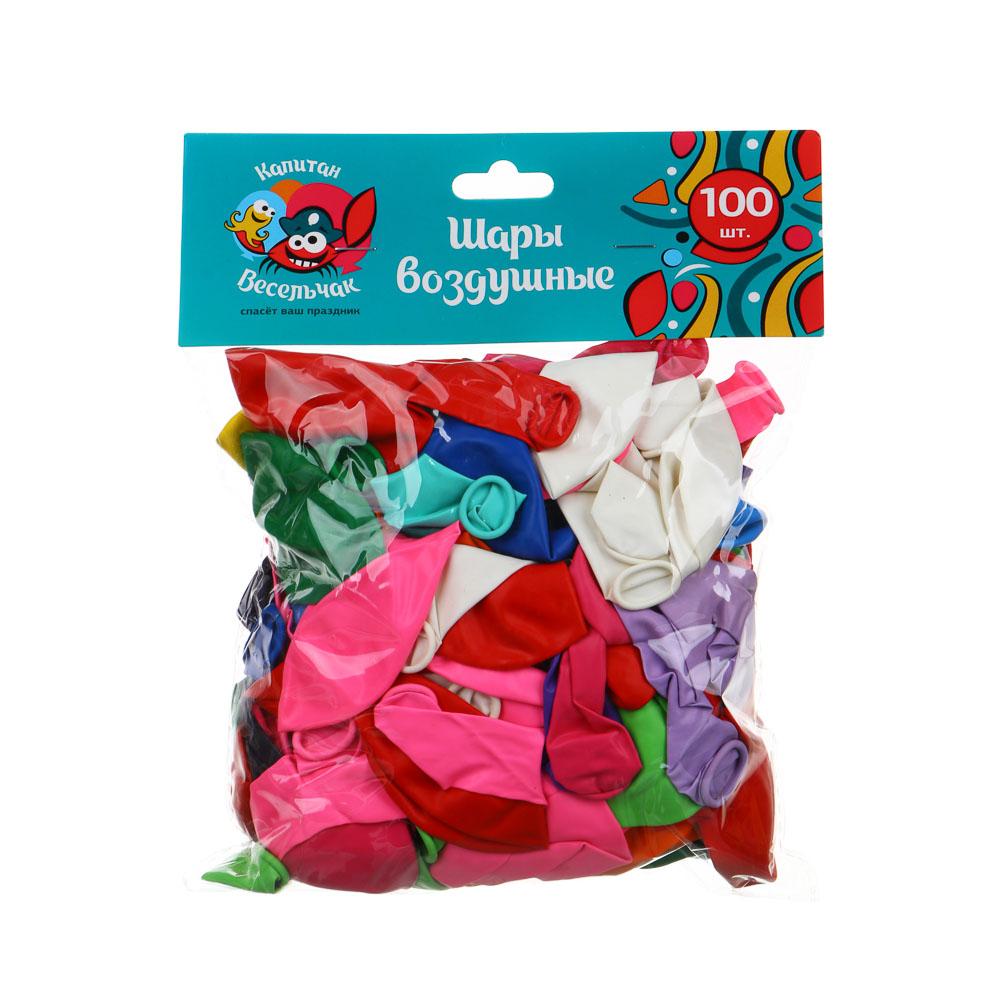 """Шары воздушные 100 шт, 12"""", цветные в пакете"""