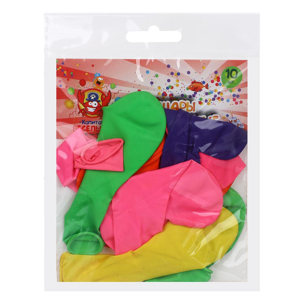"""Шары воздушные 12"""",10 шт, цветные в пакете, """"Сердце"""""""