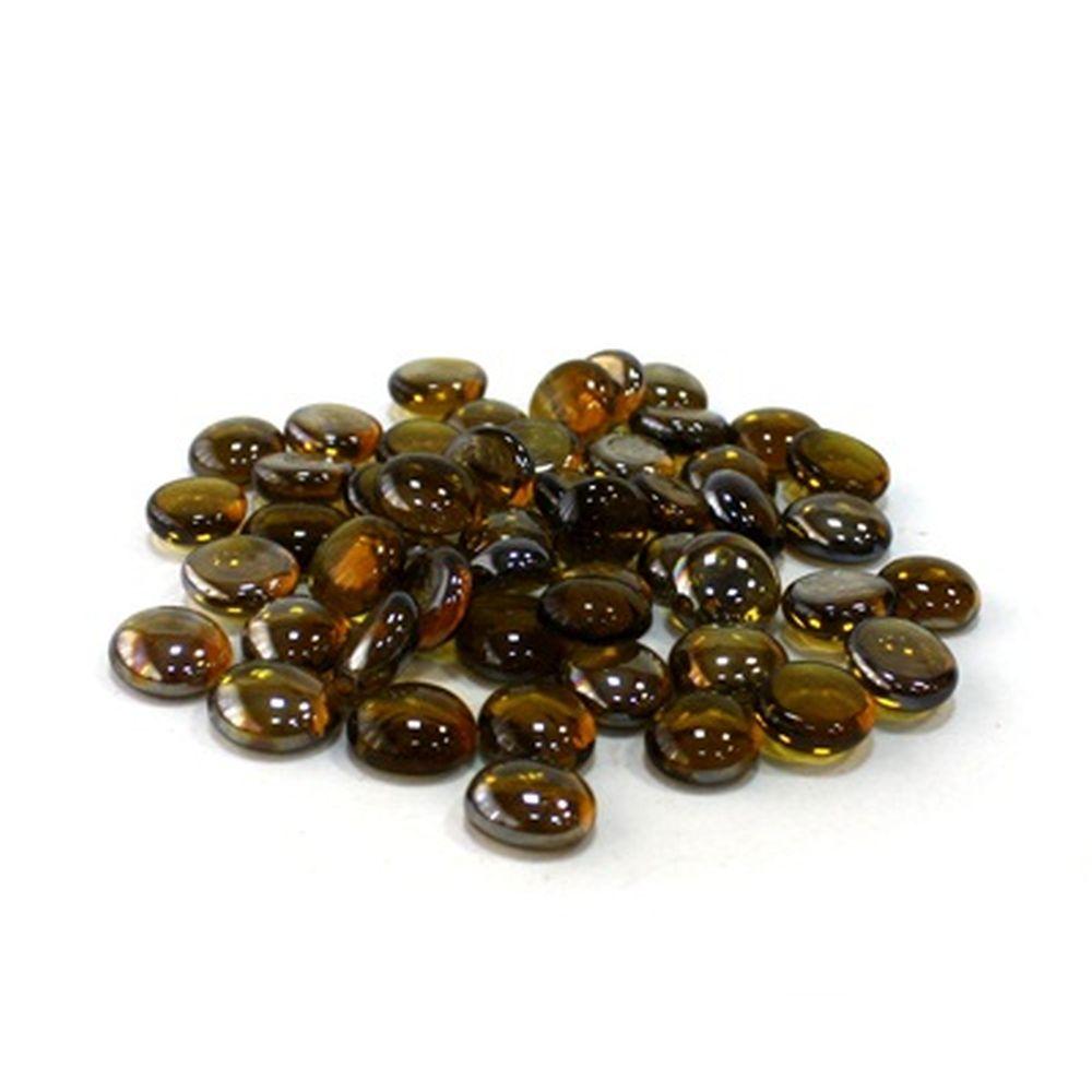 Камни декоративные разноцветные 50шт, стекло