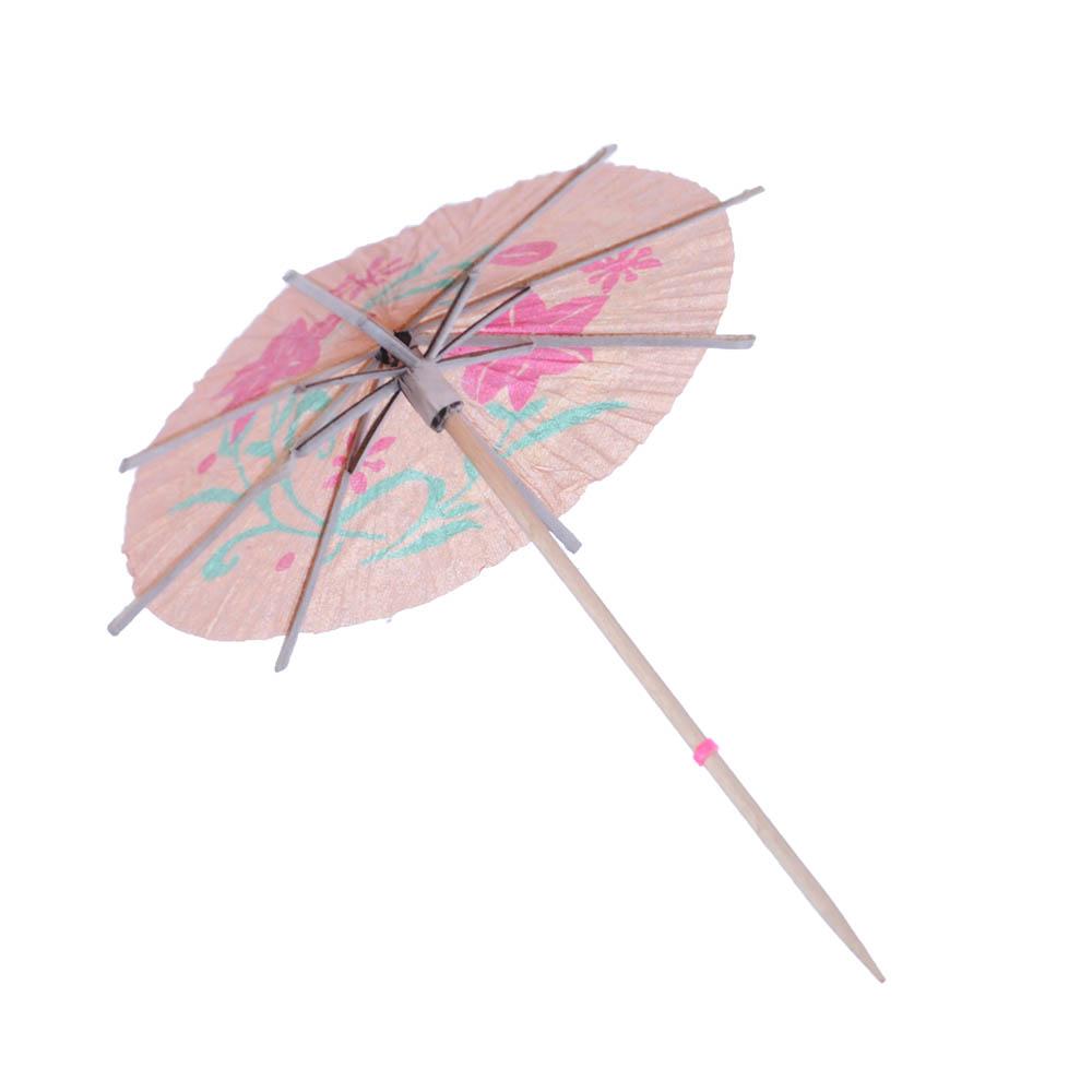 """Пики декоративные 30шт, 100мм, цветные, """"Зонтики"""""""