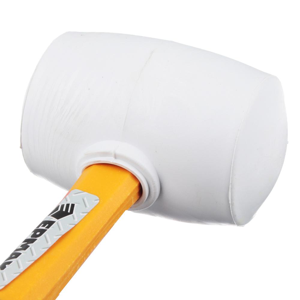 ЕРМАК Киянка, белая резина, фибергласовая обрезиненная рукоятка 460гр