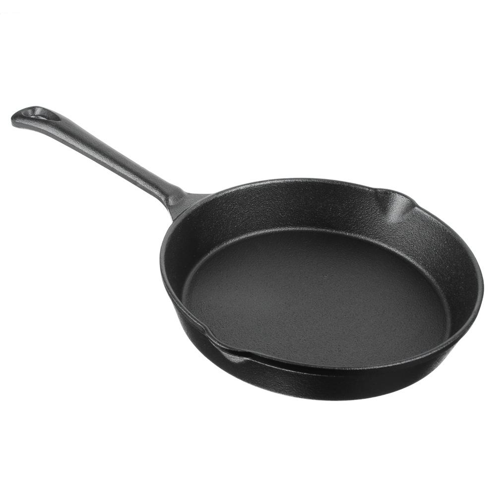 Сковорода чугунная d. 20 см VETTA, 2 слива