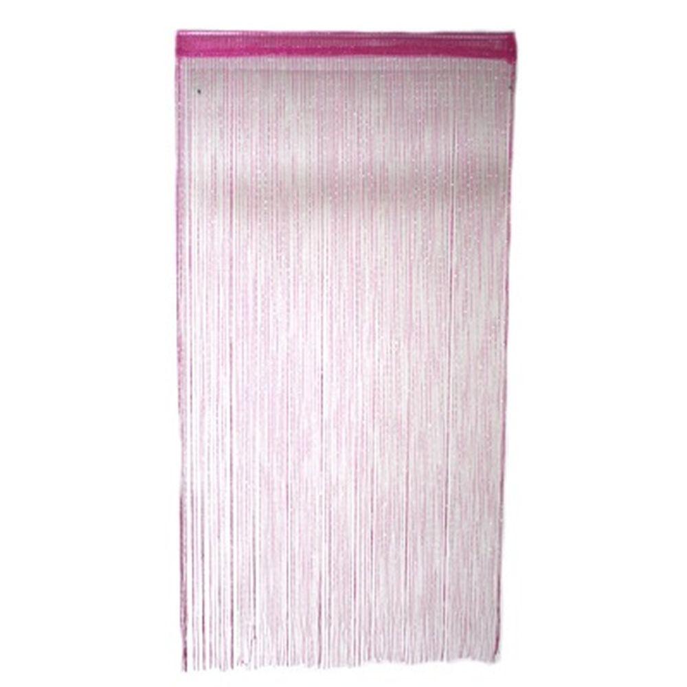 Занавеска нитяная 1x2м, с блестками, розовая