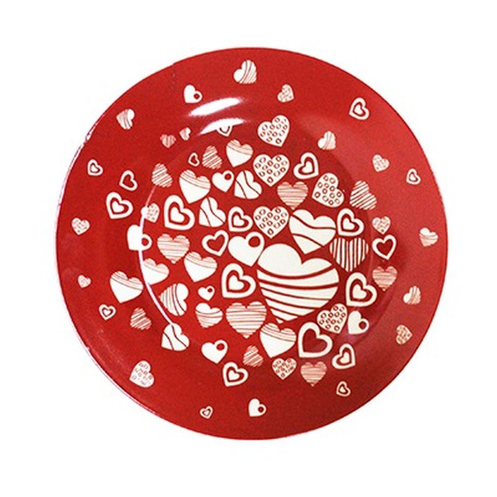FARFALLE Блюдо для торта Сердечки, 25см, фрф, подар.упак