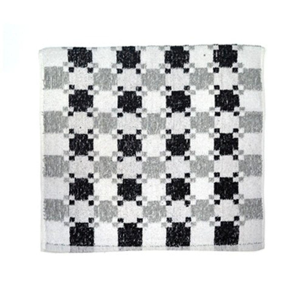 VETTA Полотенце банное, 100% хлопок Quadrato 50x90см, чёрно-белое арт FBS900-26