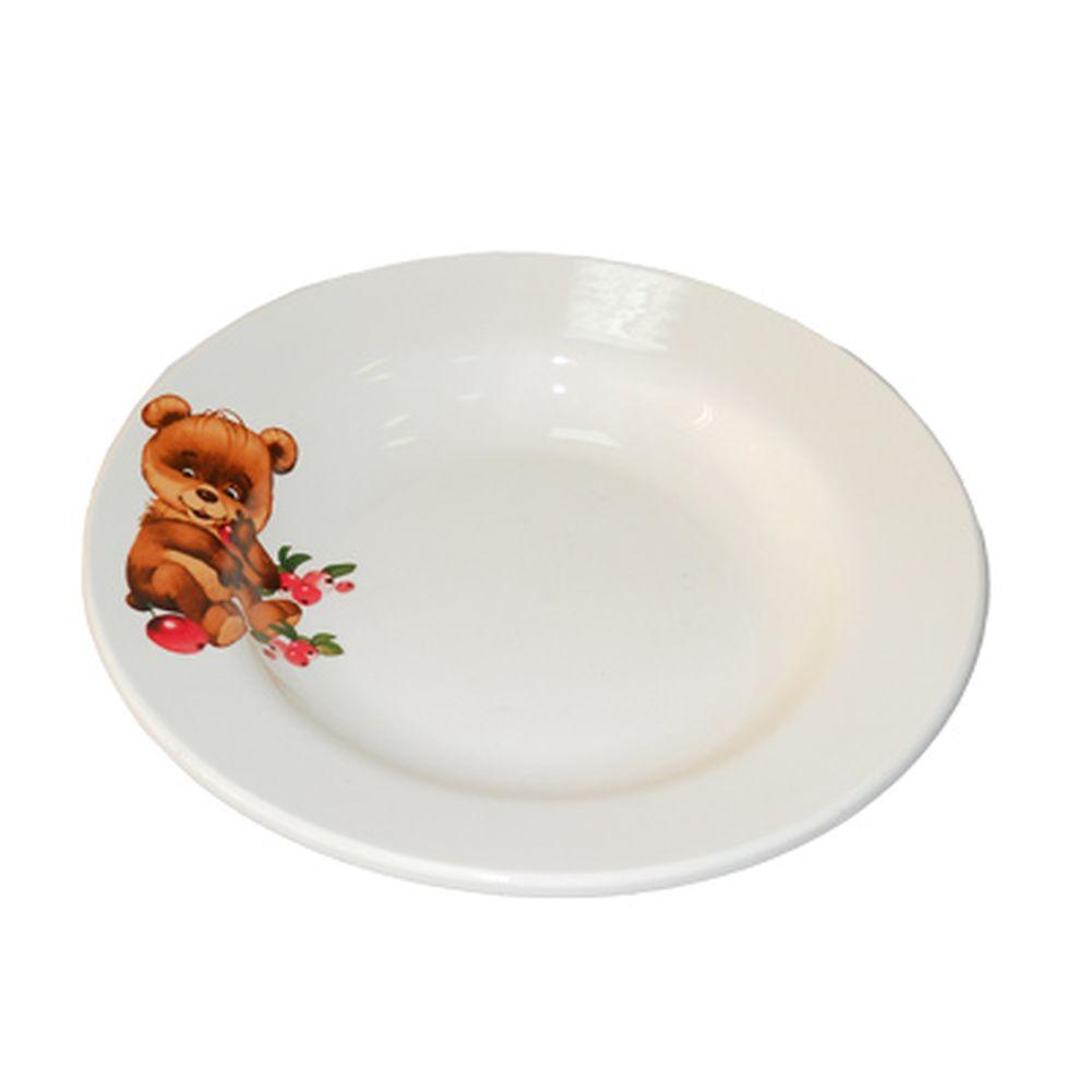 Утенок/Медвежонок Тарелка глубокая 20см, 450мл, фаянс, 055