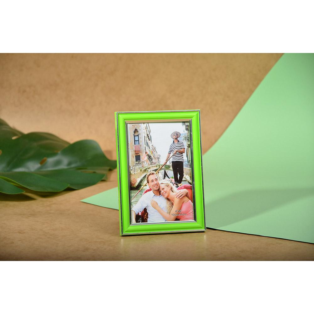 Фоторамка пластик 10х15см, 6 цветов, D3-6