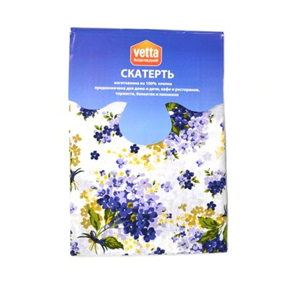 VETTA Kitchen скатерть 140x150см ULTRAMARIN FLOWER 100% хлопок