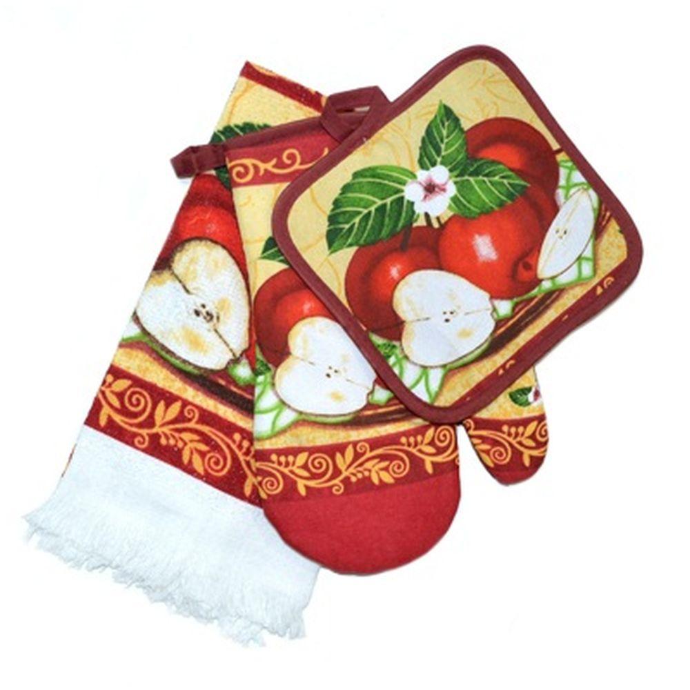 VETTA Kitchen Набор кухонный 3 пр. (варежка+прихватка+полотенце) FA5018