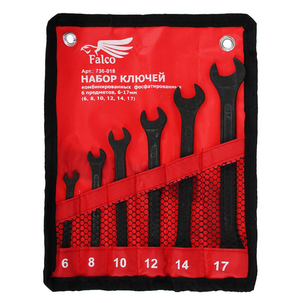 FALCO Набор ключей комб. фосфат. в сумке 6 пр., 6-17мм (6, 8, 10, 12, 14, 17)