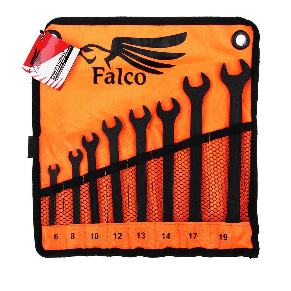 FALCO Набор ключей комб. фосфат. в сумке 8 пр., 6-19мм (6, 8, 10, 12, 13, 14, 17, 19)