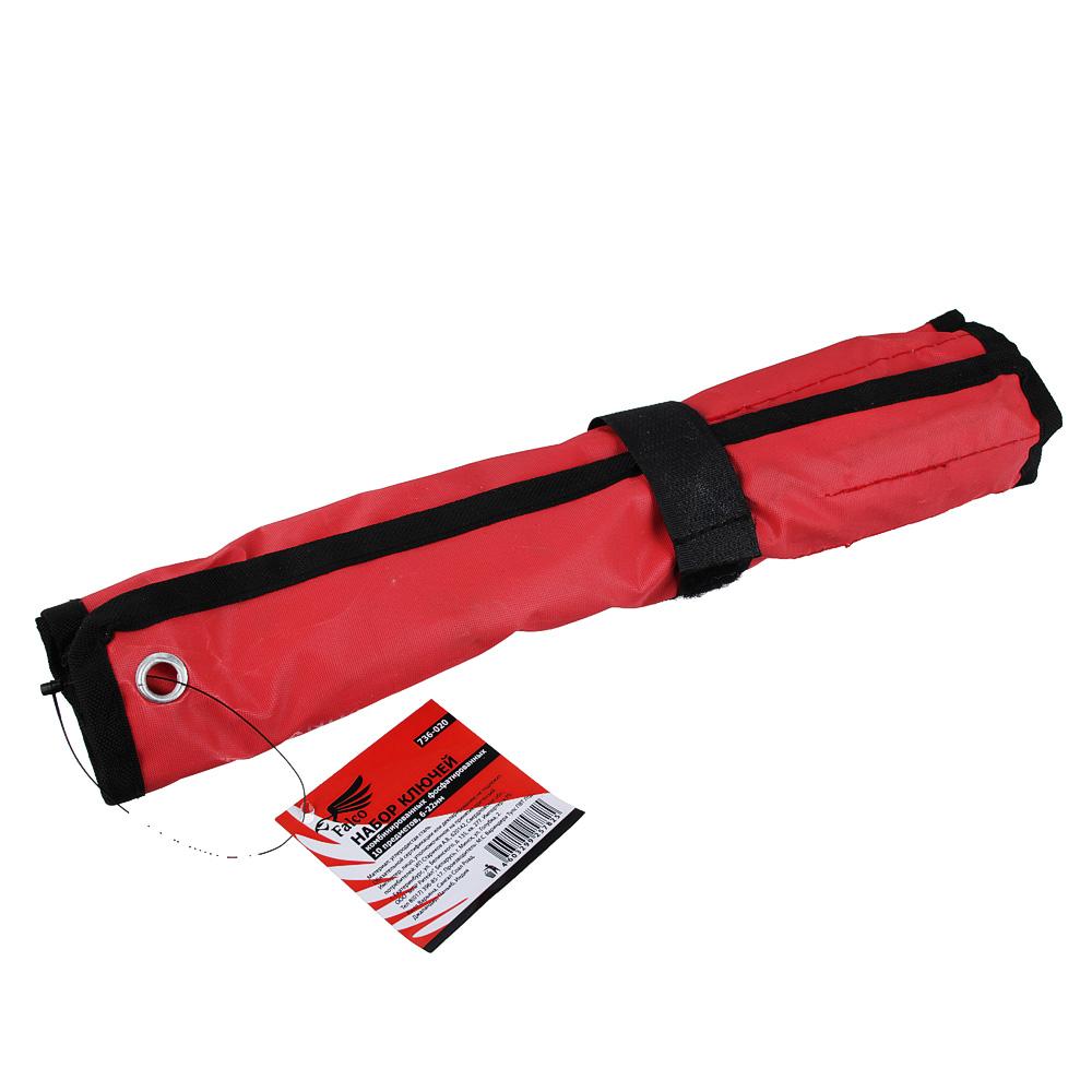 FALCO Набор ключей комб. фосфат. в сумке 10 пр., 6-22мм (6, 8, 10, 11, 12, 13, 14, 17, 19, 22)
