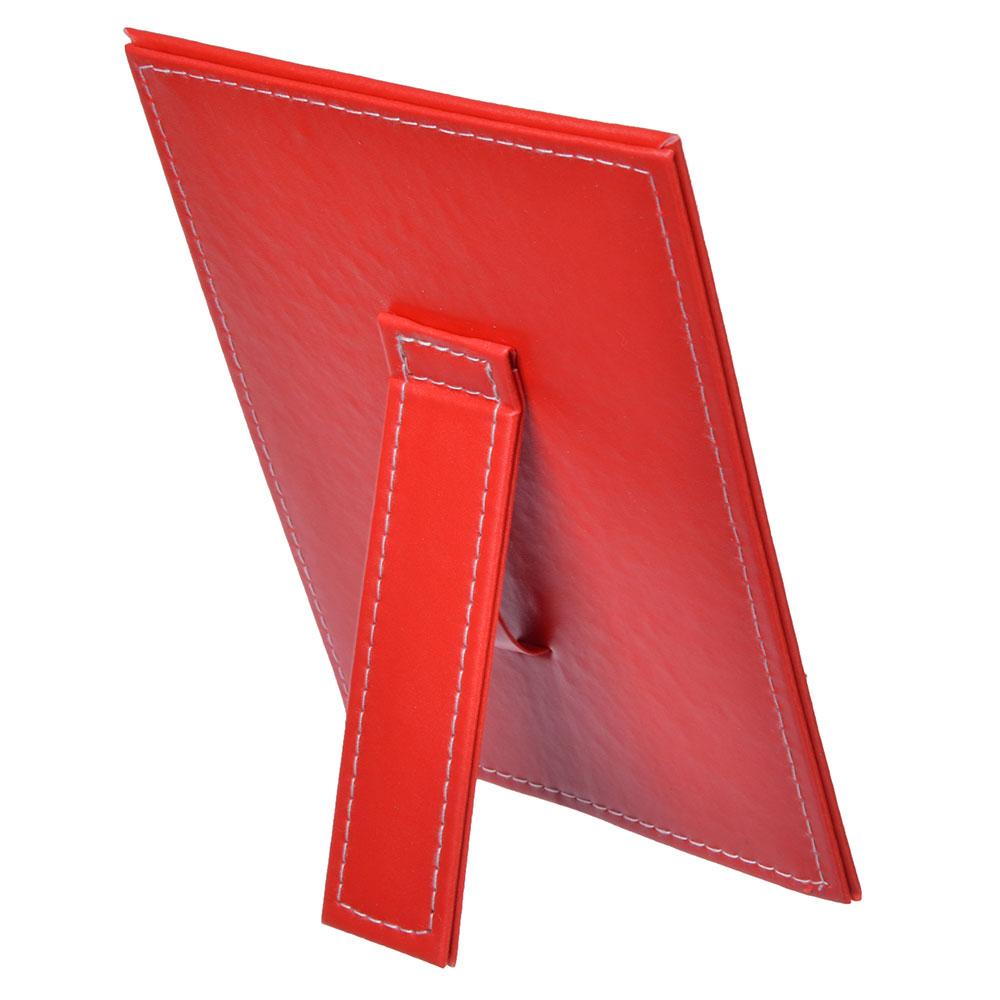 Зеркало настольное прямоугольное, 15х20,5 см, искусственная кожа, 4 цвета