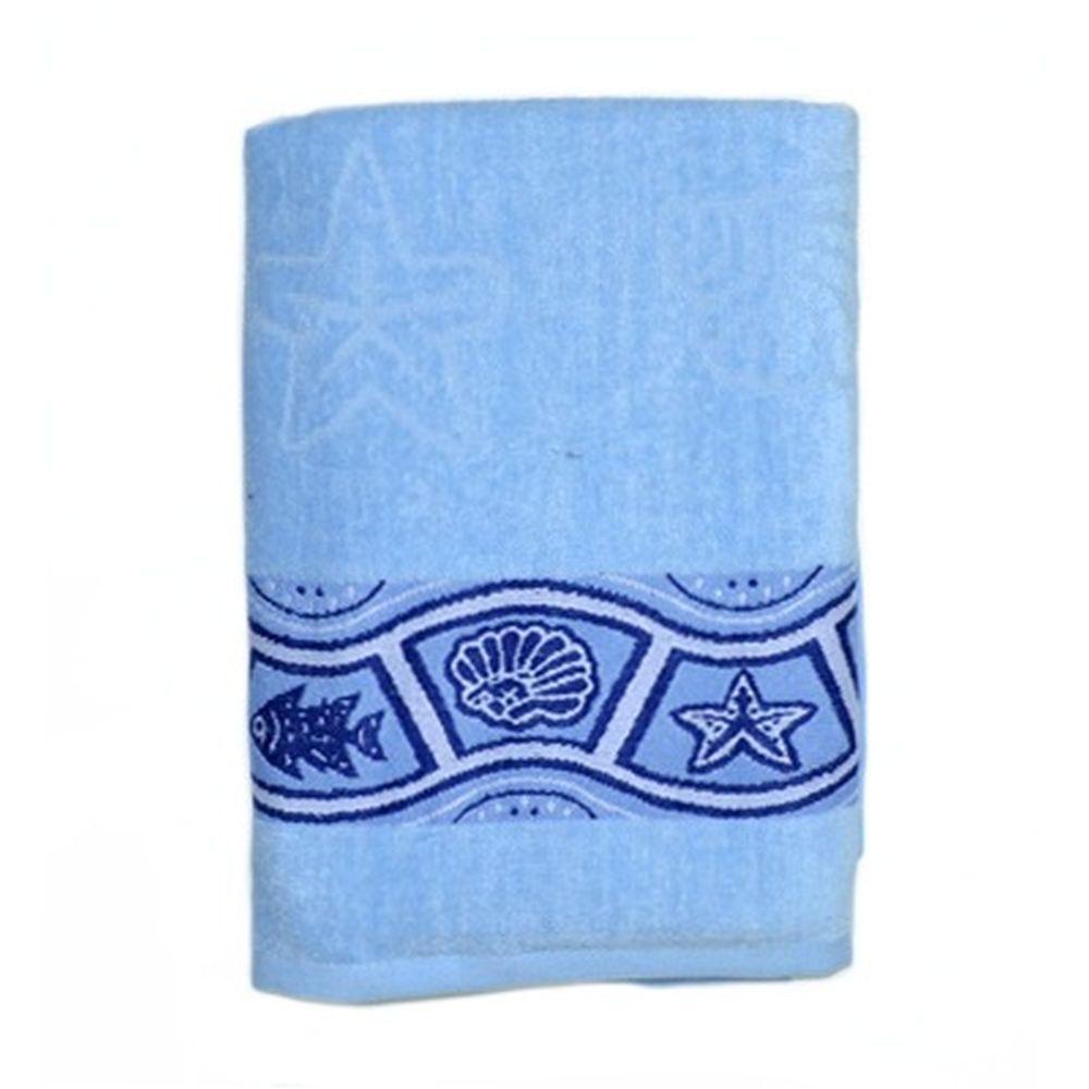 VETTA Полотенце банное, 100% хлопок Санторини синее 50x90см