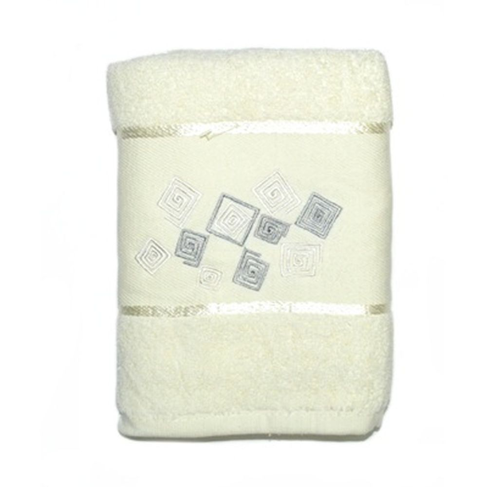 VETTA Полотенце банное, 100% хлопок Румба белое 50x90см