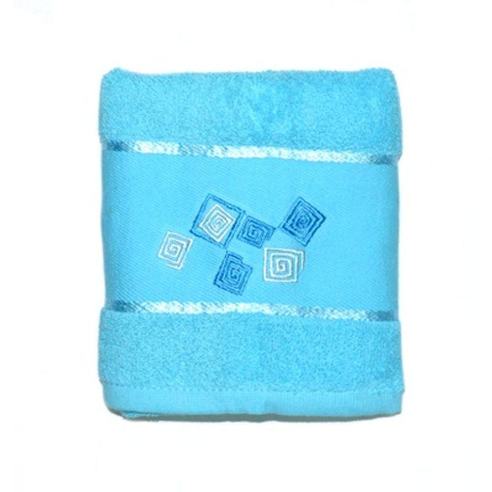 VETTA Полотенце банное, 100% хлопок Румба голубое 50x90см