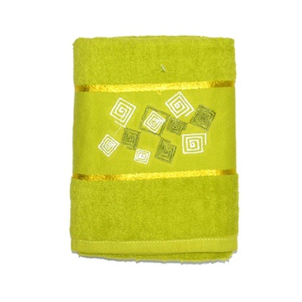 VETTA Полотенце банное, 100% хлопок Румба зелёное 50x90см