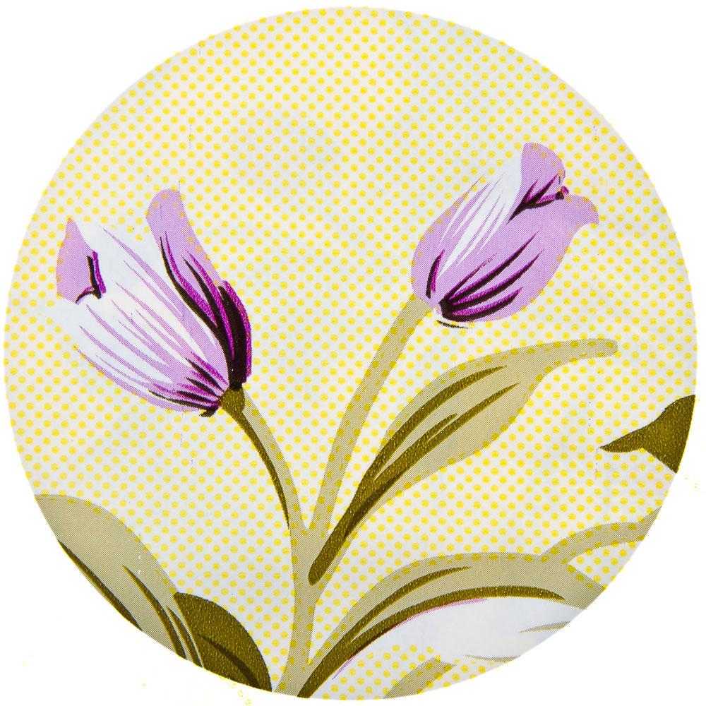 Скатерть на стол виниловая клеенка с бахромой, 95x140см