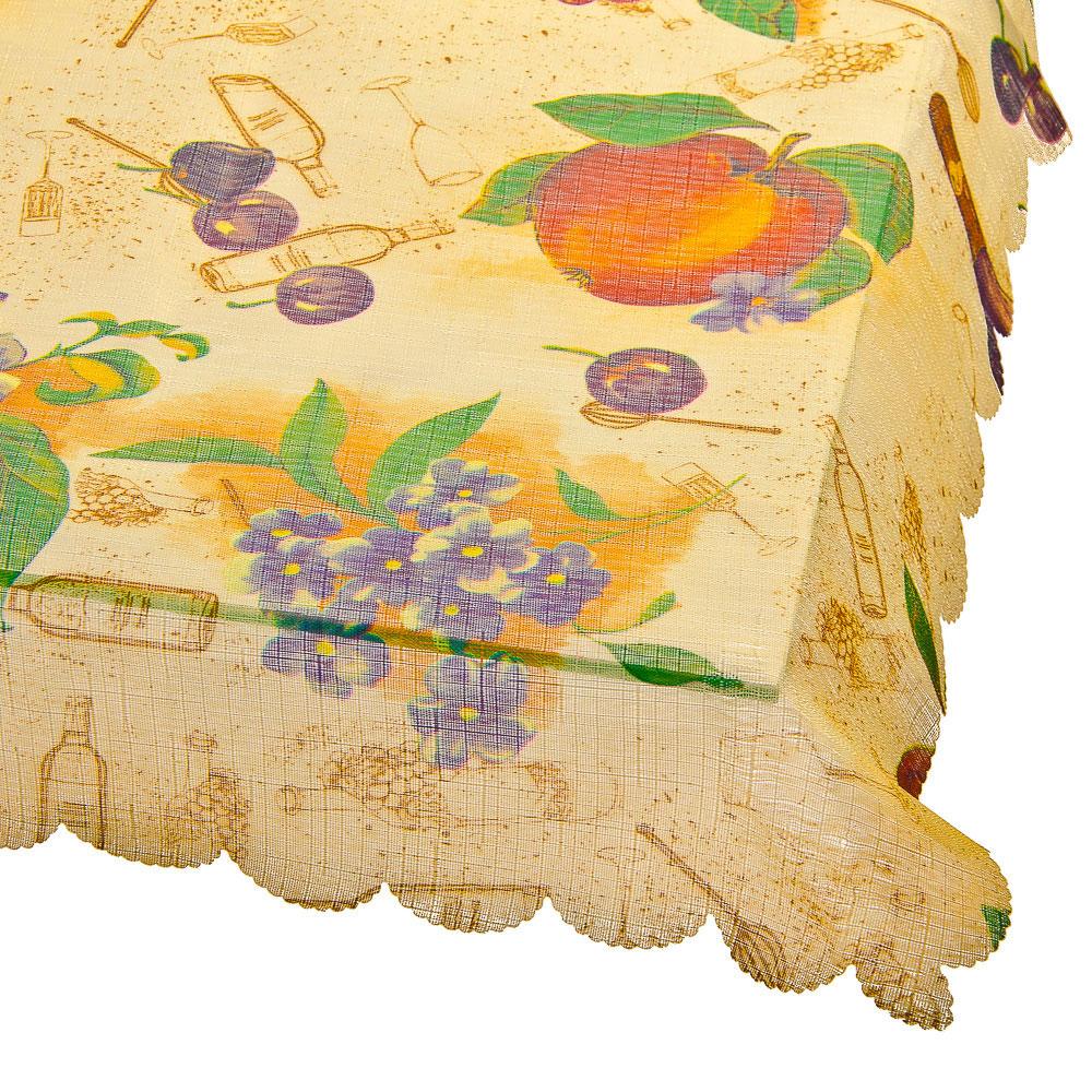 Скатерть на стол, полиэстер, 140х140см