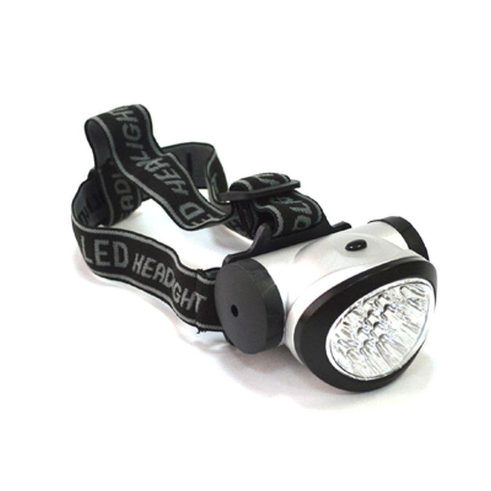 Фонарик налобный пластиковый, со светодиодами, 19с LED, 3xAA, BL-603-19c