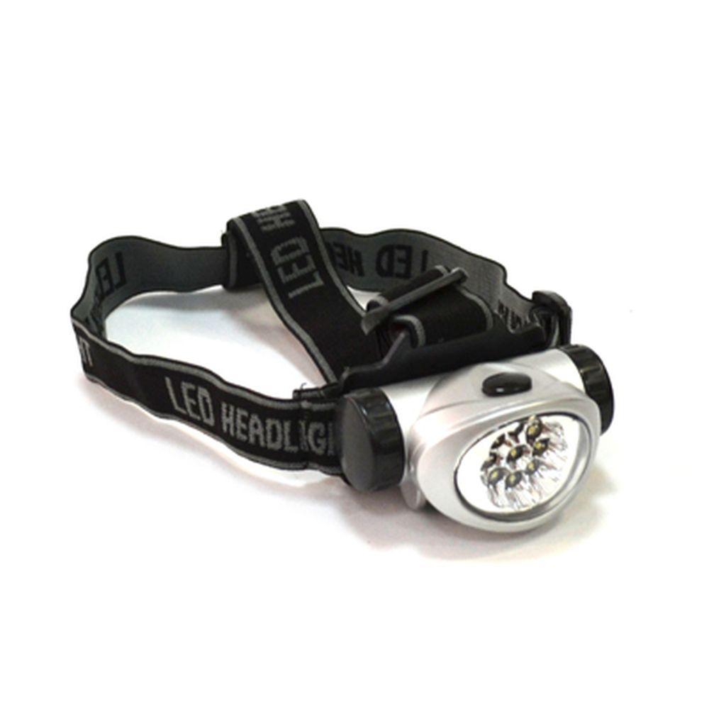 Фонарик налобный пластиковый, со светодиодами, 9с LED, 3xAAА, BL-603-9c