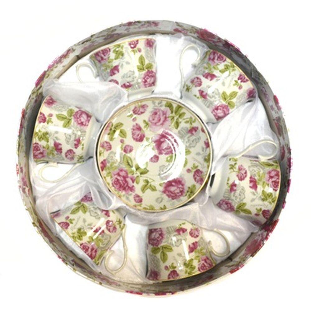 Набор чайный 12 пр. Розовая симфония 230мл арт.126-6