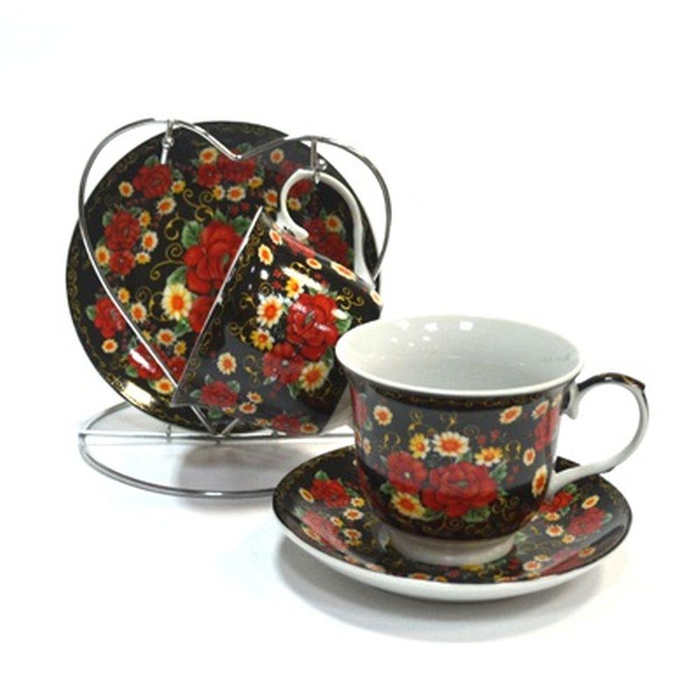 Набор чайный 4 пр. Ария на мет. подставке BD09239