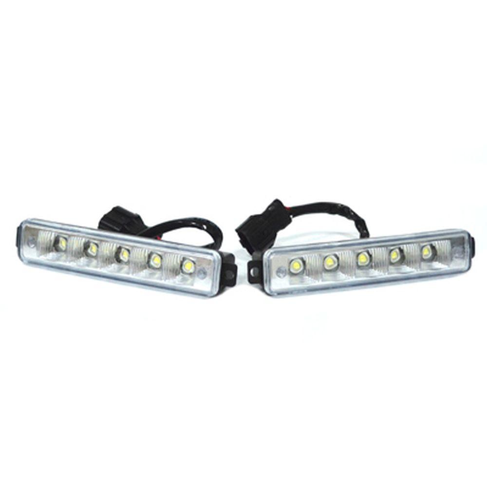 Дневные ходовые огни DRL190,E4 Mark, 5LEDx1W, 160x30x45мм, функция автоотключения