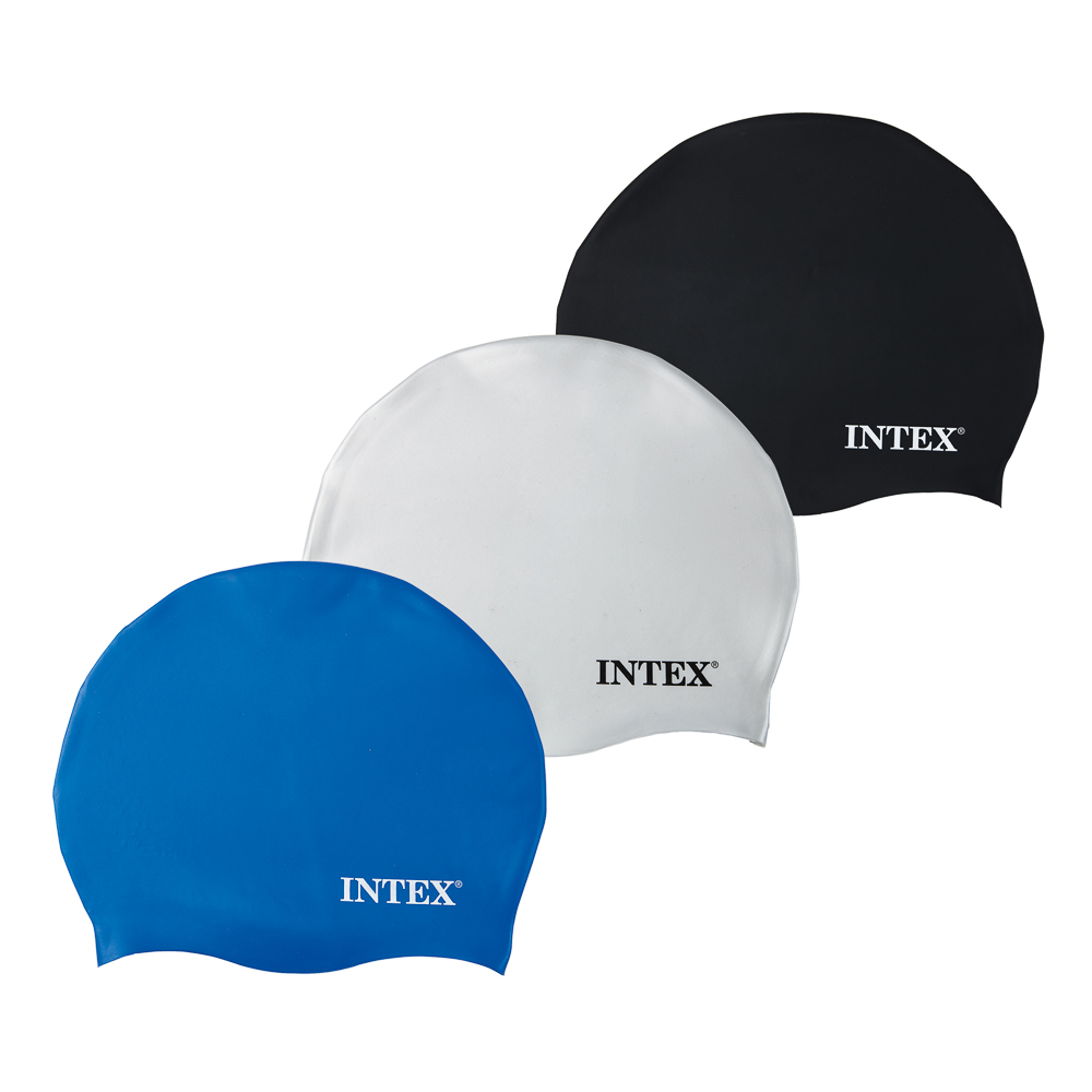 Шапочка для бассейна, возраст от 8 лет, 3 цвета, INTEX, 55991