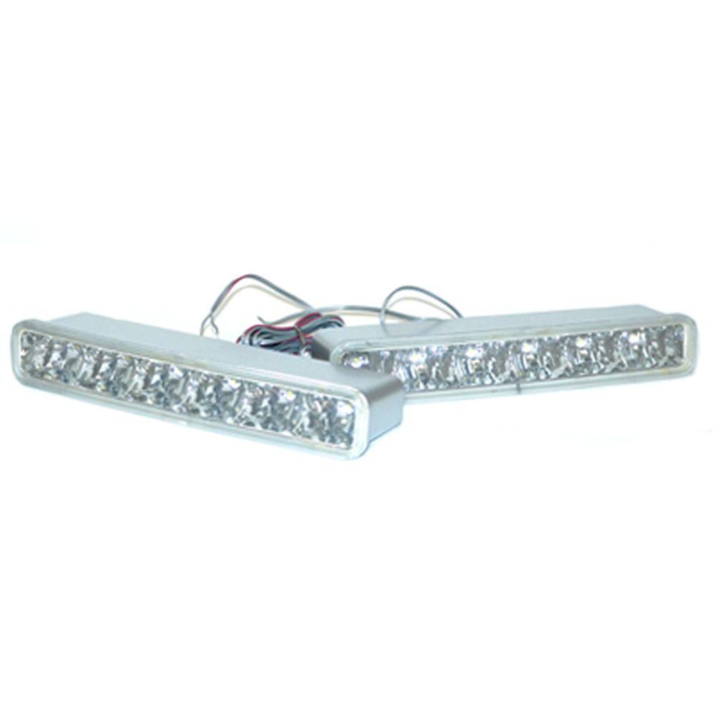 Дневные ходовые огни для крупногабаритных авто 2х6LED пластик корпус, 235x62x40 мм, SW-3088