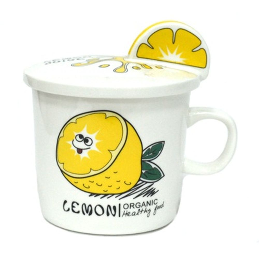 Кружка 330мл Лимон, с крышкой, в инд. упак, фрф