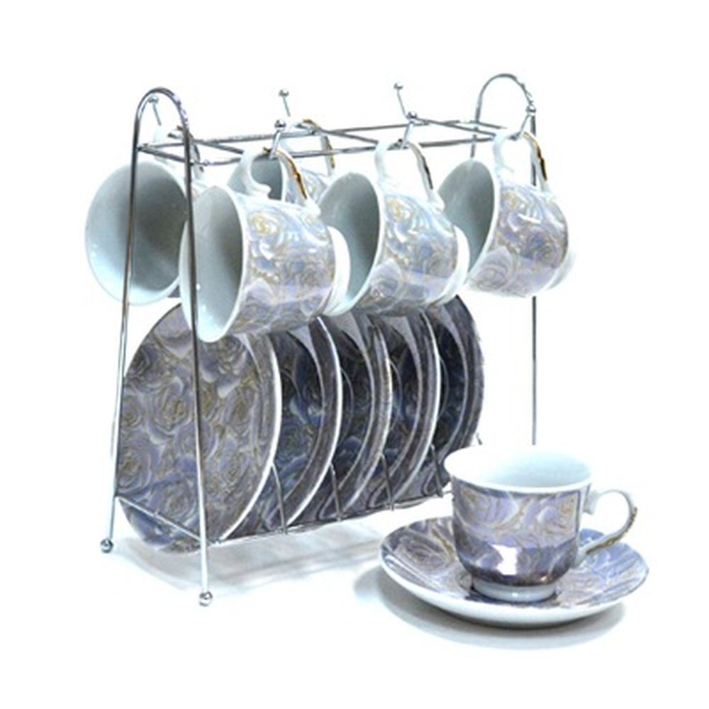 Набор чайный 12 пр. 120мл на металл. стойке арт.А1114-С