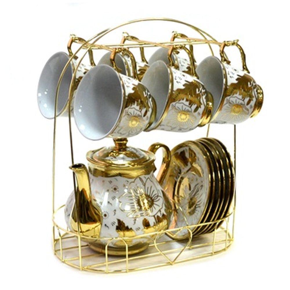 Набор чайный 13 пр. на металл стойке 220мл арт.E01-3