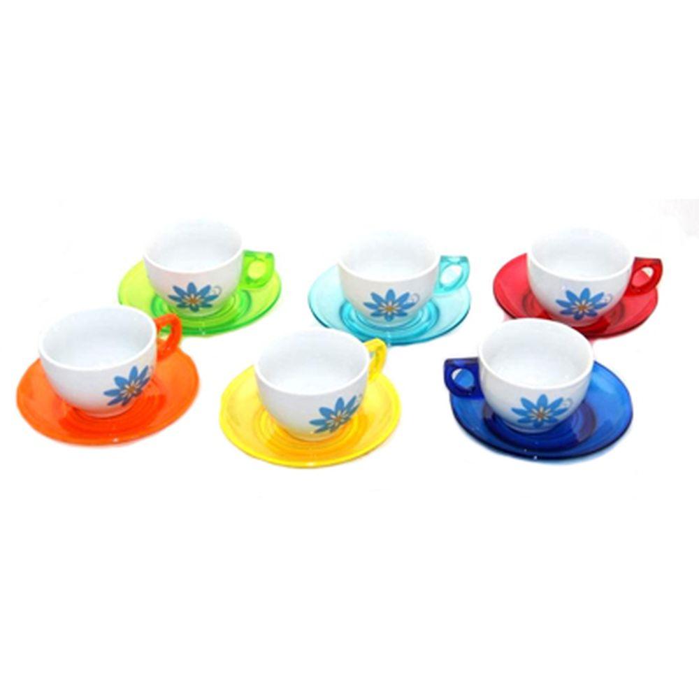 Набор чайный 12 пр. керамика+пластик А-130