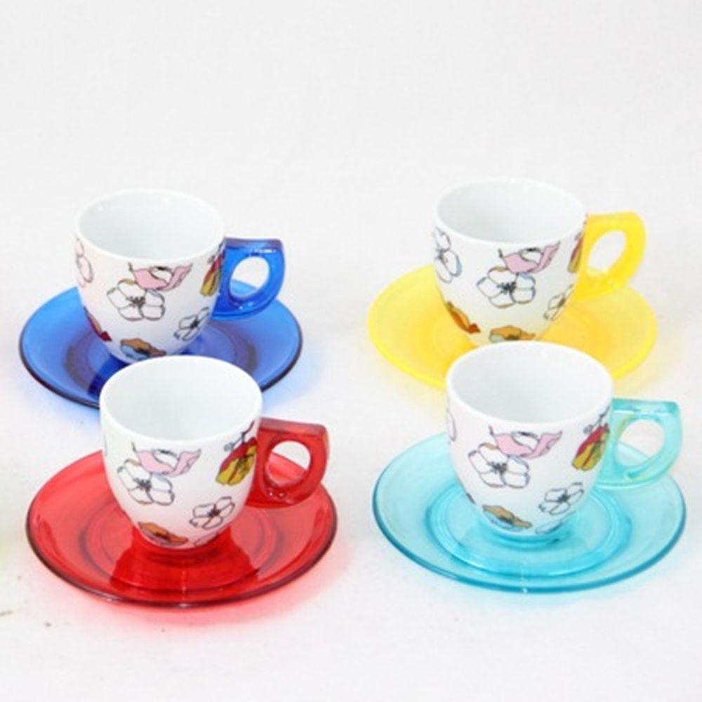 Набор кофейный 12 пр. керамика+пластик А-128