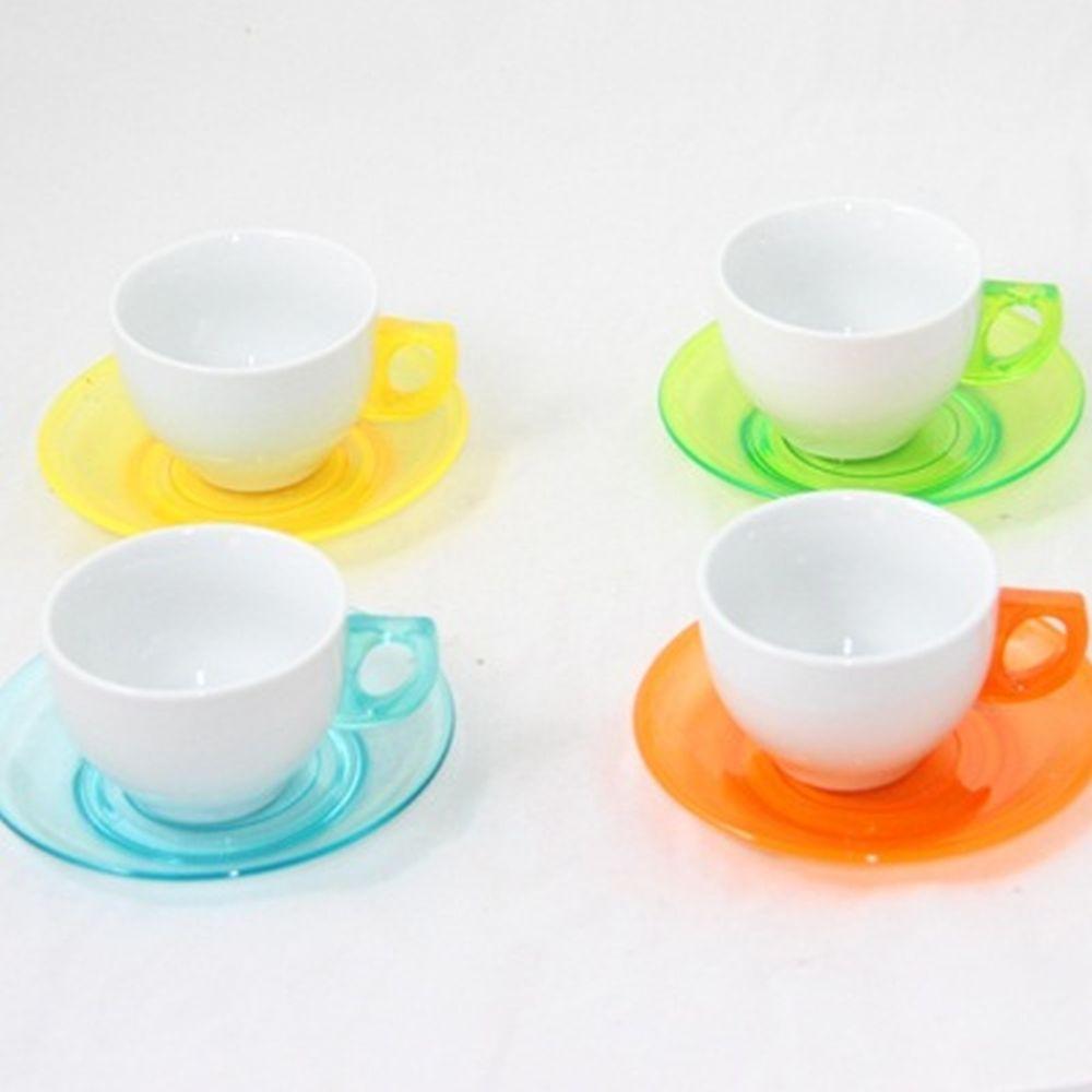 Набор чайный 8 пр. керамика+пластик
