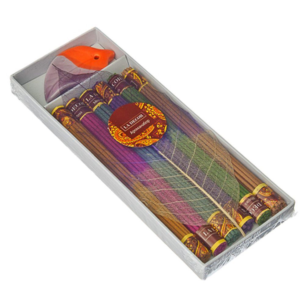 Набор благовоний: подставка + аромаплочки (6 ароматов по 19 палочек), R74