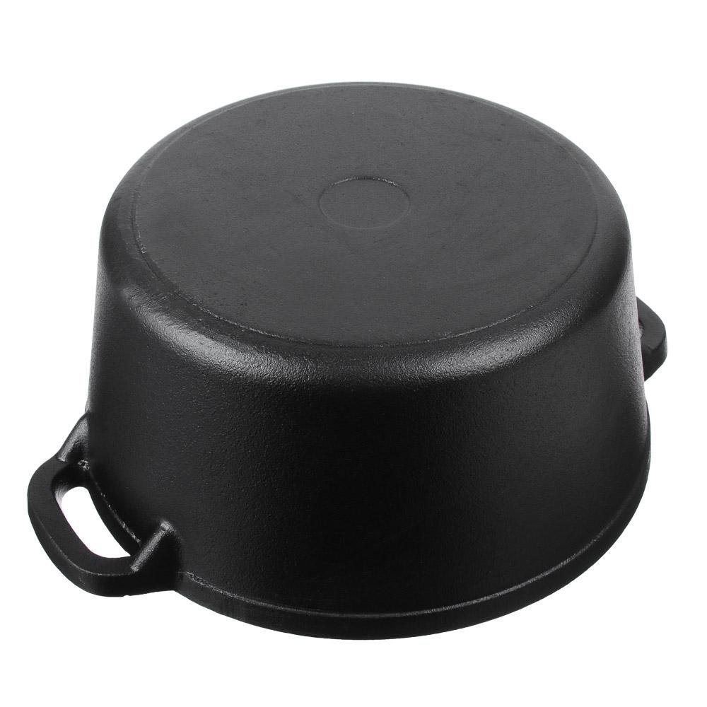 Кастрюля чугун, 3,8л, d23х10 см, чугунная крышка, VETTA