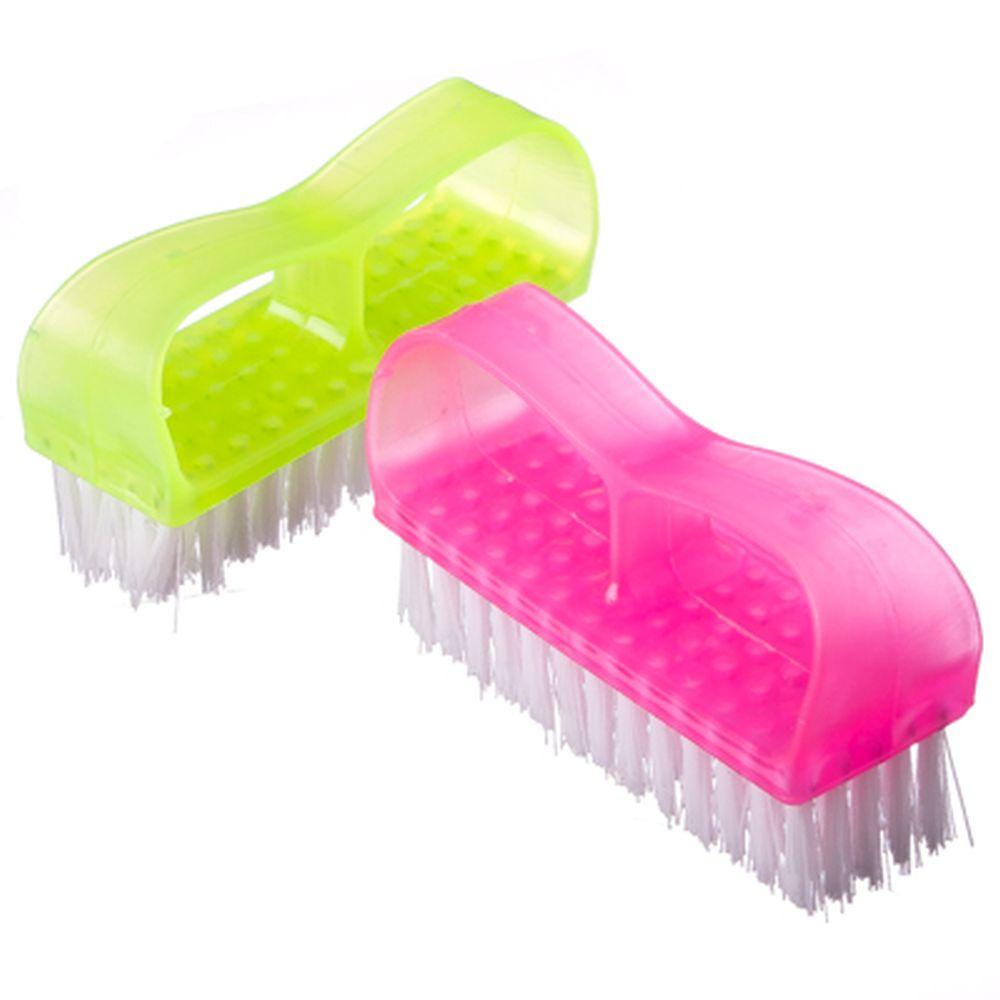 Щетка для рук и ногтей 2шт., пластик, 7х2,5х4см, 3 цвета, 2803