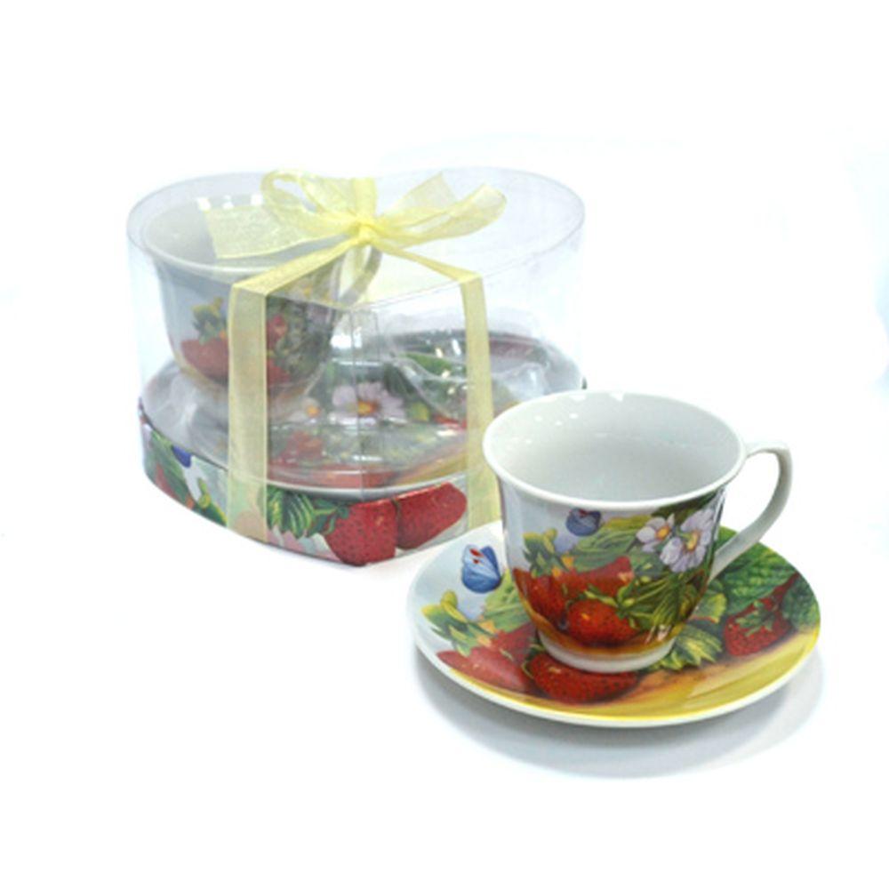 Набор чайный 4 пр. 230мл Клубника 30072