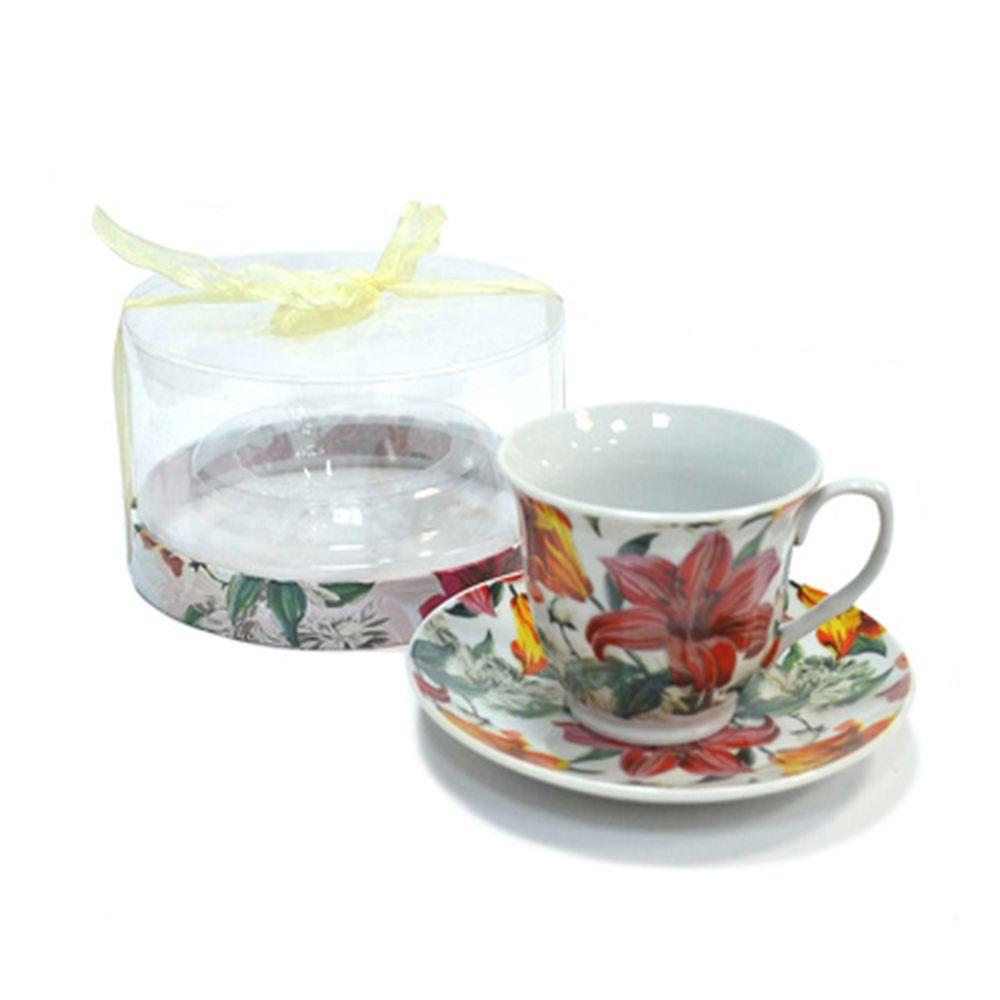 Чайная пара 230мл Лилия 30040
