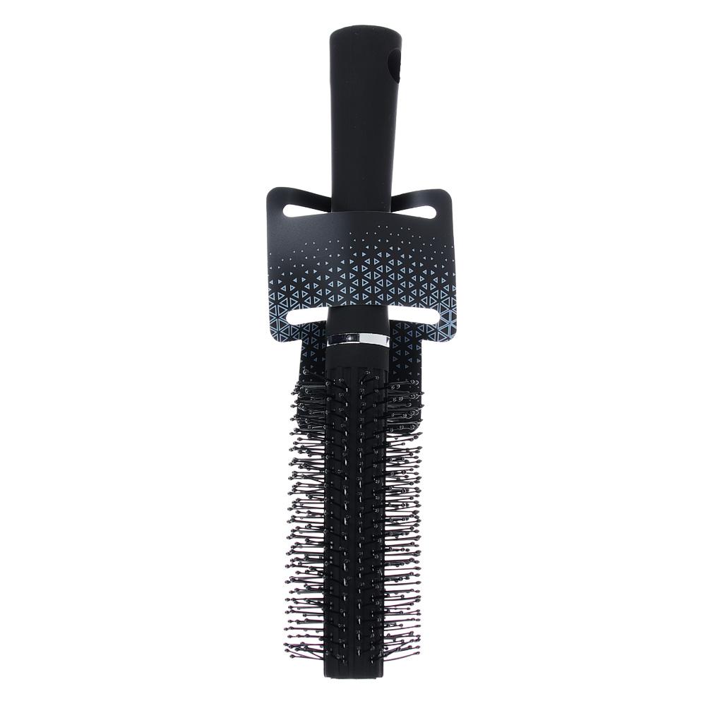 Расческа-брашинг, 11/4 см, L22,5 см, черный